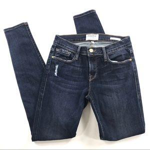 Frame Distressed Skinny Jeans Sz 26